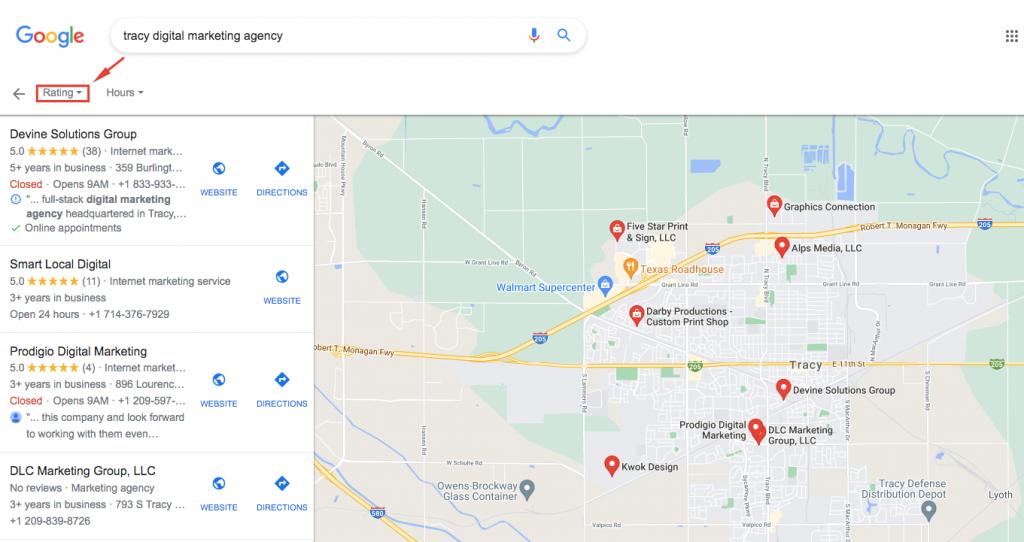 google tracy digital marketing agency GMB